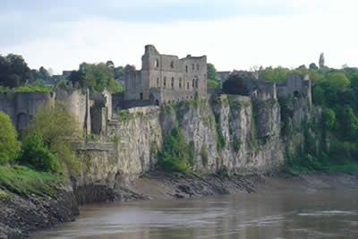 Chepstow castle and the River Wye