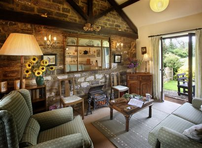 The lounge in Harebell Cottage